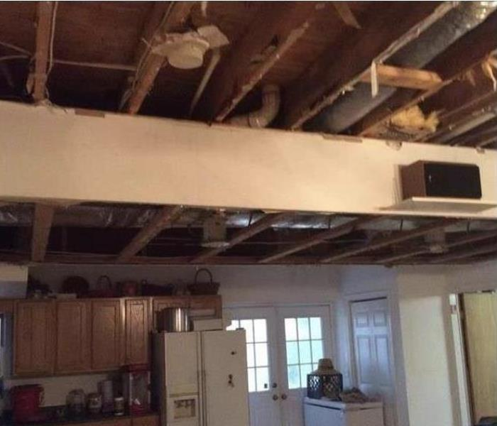 Commercial Water Damage in Harrisonburg, Va Before